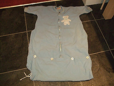 Original Vintage Kamella  Pure New Wool Baby Blue Babies Sleep Sac Sleeping Bag