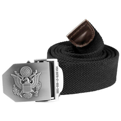 Helikon Military Combat Style Mens Army Belt Cotton Canvas Webbing Black