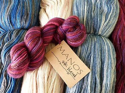 Manos del Uruguay Silk Blend 50g hanks DK 70% wool 30% silk VARIOUS SHADES
