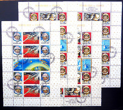 GUINEA Republic 1965 Set of 4 Space M/Sheets SG499/500 & 517/518 Cat £42 BIN899