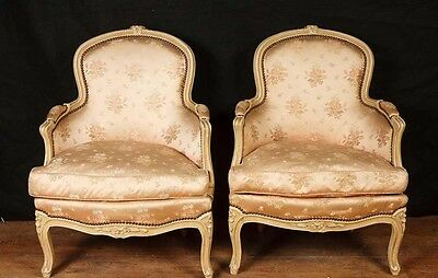Pair Victorian Arm Chairs Sofa Chair Upholstered Fauteils • £1,495.00