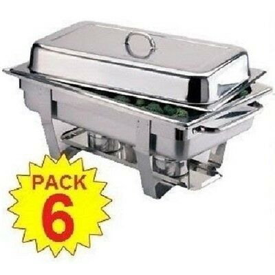 Pack 6 Stainless Steel Full Size Chafing Dish Sets ***free Next Day Delivery***