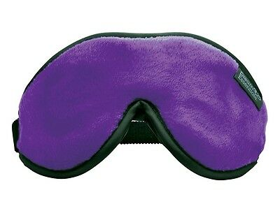 Dream Essentials Escape Luxury Travel Sleep Mask w/Carry Pouch & Earplugs Purple