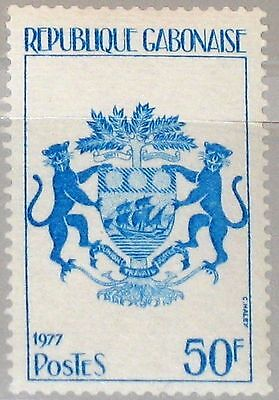 GABON GABUN 1977 636 381 State Coat of Arms Staatswappen Wappen Definitive MNH