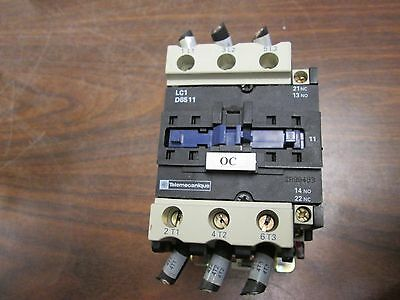 Telemecanique Contactor LC1D6511 80A 600V 3P Used
