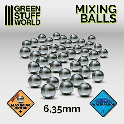 Mixing Stainless Balls 6,35mm - for Paint pots: Vallejo, Model Color, Citadel...