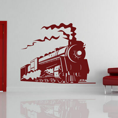 Childs Steam Engine Train Wall Art Sticker Decal Kids Bedroom Playroom (AS10089)