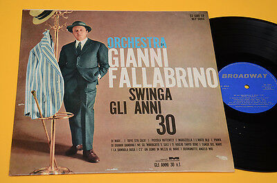 Gianni Fallabrino Lp 1°St Orig Italy 1962 Nm ! Laminated Cover Top Italy Jazz
