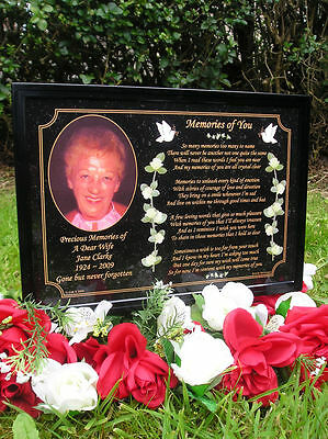 Personalised Occasions Memorial Grave Plaque - Wife