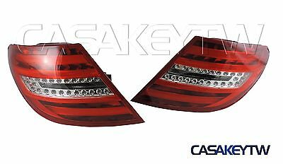 2008-2010 W204 Sedan LED Tail Rear Light Red/Clear LED Amber for Mercedes-Benz