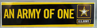 "US Army Decal - Bumper Sticker  "" An Army Of One """