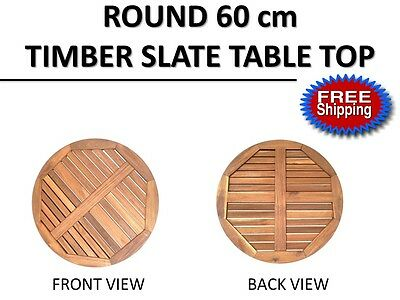 Round 60cm Timber Coffee Table Top | Indoor Outdoor Cafe Restaurant Commercial