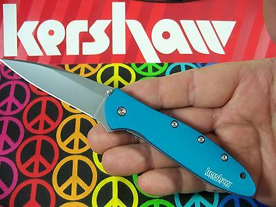 "KERSHAW ""USA"" - Teal Blue LEEK Assisted SPEEDSAFE Knife w/ SAFETY LOCK 1660TEAL"