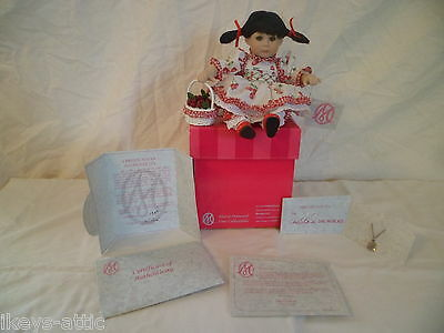 "2004 Marie Osmond SHERRY CHERRY FRUIT CUP 6"" SEATED Porcelain Doll COA~BOX~TAGS"