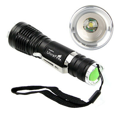 1600LM UltraFire CREE XML Q5 LED ZOOMABLE Flashlight Torch Lamp