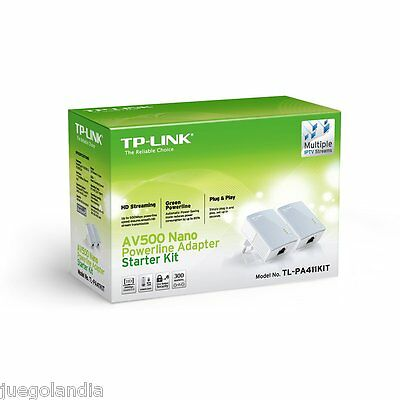 Pack 2 Adaptadores Powerline Av500 500 Mbps Tp-Link Tl-Pa4010Kit Plc Plcs Nuevo