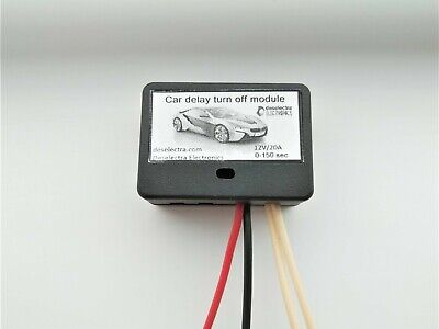 MINI CAR TIMER SWITCH TIME RELAY 0 TO 150 SEC KIT 12V/10A Delay OFF UNIVERSAL