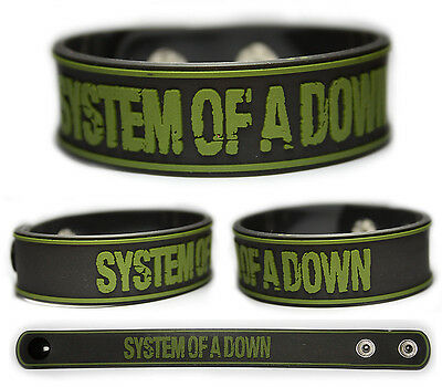 SYSTEM OF A DOWN Rubber Bracelet Wristband    Chop Suey !     SOAD