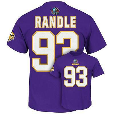 b7e9ca93 NWT #93 JOHN Randle NFL Minnesota Vikings HOF Eligible Receiver T-Shirt  Mens M