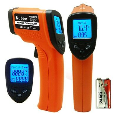 Temperature Gun Non-contact Infrared IR Laser Digital Thermometer -58 F to 932 F