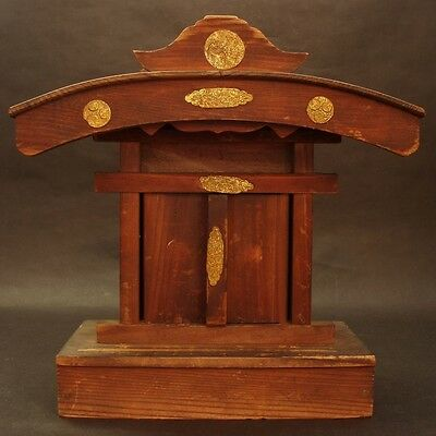 YASHIRO Wood God House Buddhism Shinto ZEN Japanese Vintage Antique Sacred Feel!