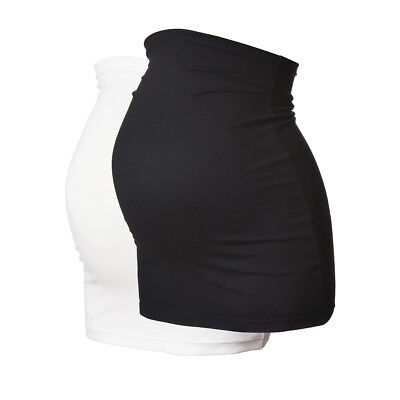 Maternity BellyBand/BumpBand by Harry Duley. LONG. 2PK Black & White. Made in UK