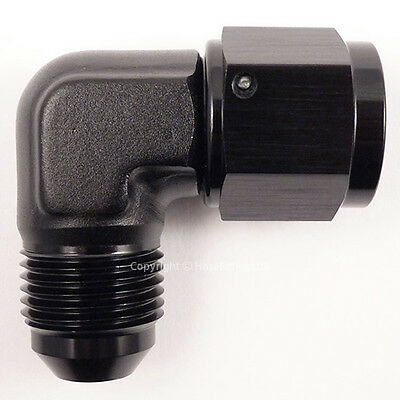 AN -10 AN10 JIC BLACK 90 Degree MALE to FEMALE Forged Elbow Hose Fitting Adapter