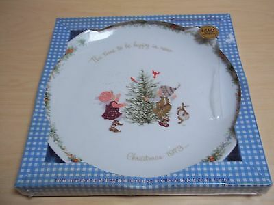 Vintage American Greetings Holly Hobbie Plate - Commemorative Edition Christmas