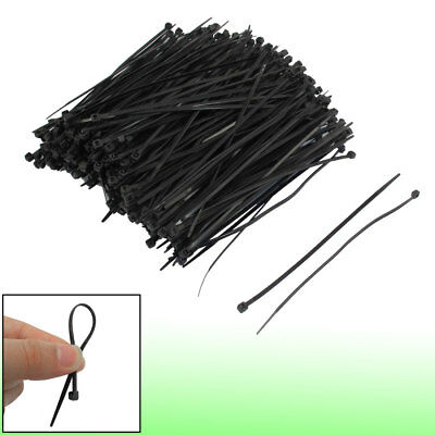 "500 Pcs 140mm x 3mm Self Locking Wire Cable Zip Tie 5.5"" Black"