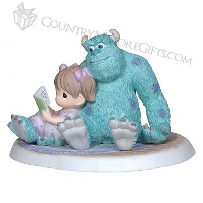 Precious Moments Snuggle Time Girl Reading with Sulley Monsters Inc 132003 Pixar