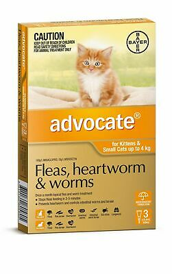 Advocate Flea & Worm Control for Cats under 4kg - 3 Pack