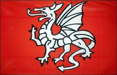 """England Old Historical Flags - Anglo Saxon Pendragon / St George Dragon 5 x 3"""""""