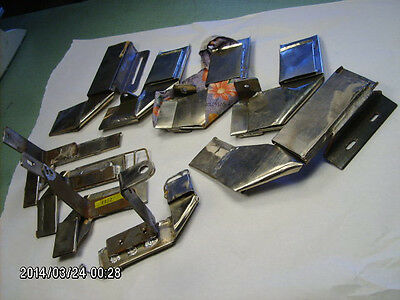 9 pc lot hand made right angle bias tube binder attachments for sewing machine
