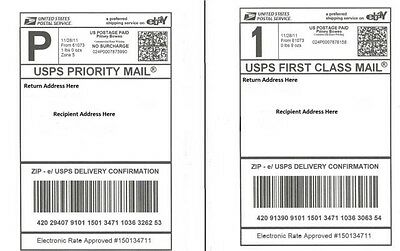 (200) QUALITY ADHESIVE SHIPPING LABELS - LASER/INKJET PayPal, UPS USPS FedEx