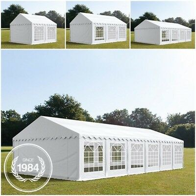 Heavy Duty Gazebo 3x3-6x12 m Party Wedding Tent Garden Marquee PVC white