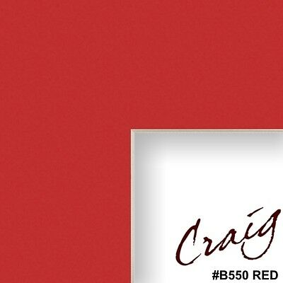 Craig Frames Red Mat Board for Picture Frame with Pre-Cut Opening (B550MAT)