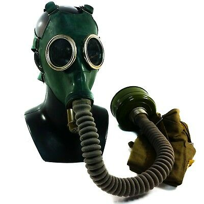 Soviet Russian Military army Gas mask GP-4 with hose respiratory surplus LARGE