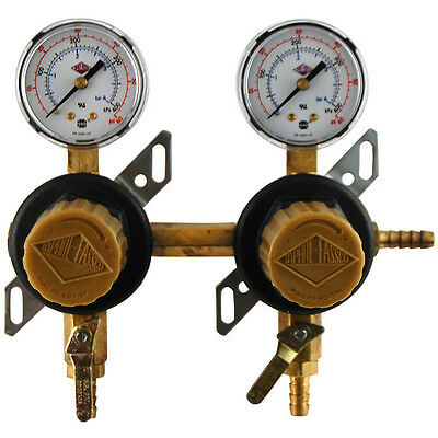 2-Way Secondary Air Regulator - Polycarbonate - Draft Beer CO2 Gas Dispense Part