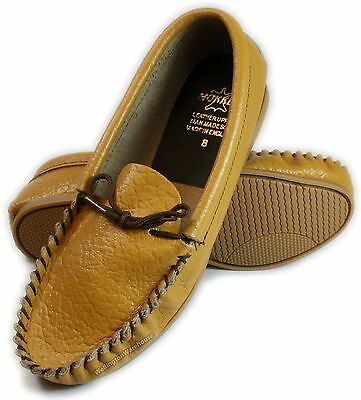 Mens Tan Leather moccasins Slippers Made In Britain UK 6-12