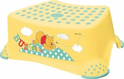 Disney  Winnie Pooh gelb Kinderhocker  bis 100 Kg Tritt Kinder Hocker Disney