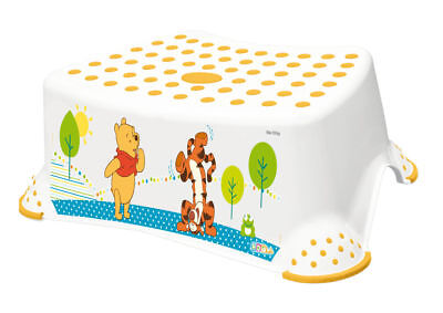Disney  Winnie Pooh weiß Kinderhocker  bis 100 Kg Tritt Kinder Hocker Disney