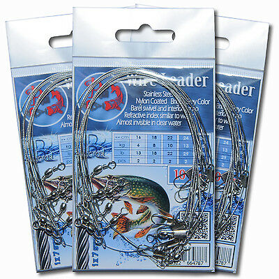 Trace Wires Leader Nylon Coated Strong Pike Perch Fishing Sea Tackle