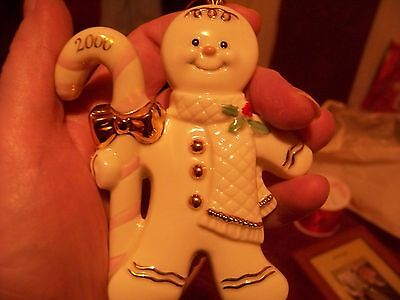 2000 Lenox Gingerbread Ornament First in the Series