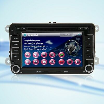 """CA 7"""" 2 DIN Car DVD Player GPS Bluetooth Stereo for VW Volkswagen Jetta+CAMERA"""
