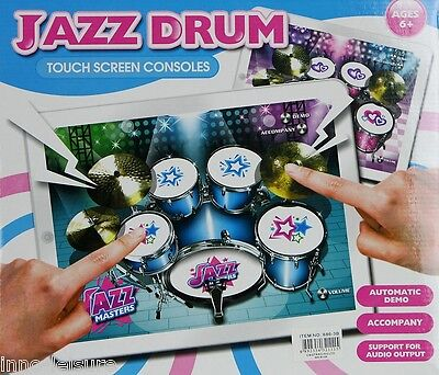 New Electronic Jazz Drum Thin Flat Touch Toy Musical Instrument Kid Gift