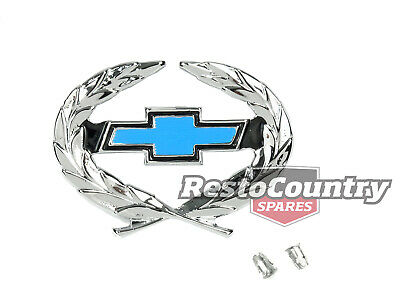 Holden Badge Wreath Blue Chev Bowtie HQ Export Chevrolet