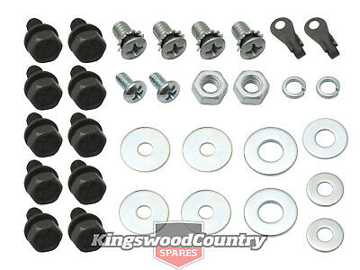 Holden Bolts +Nuts +Clip Internal FRONT Door Kit HQ HJ HX HZ latch rod regulator
