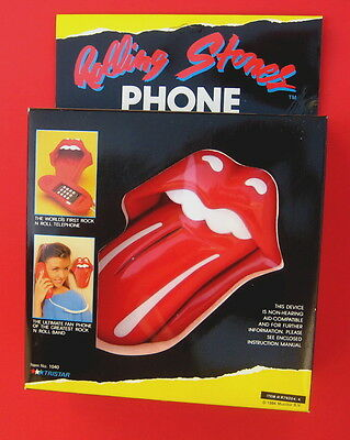 Rolling Stones the 1984 TONGUE TELEPHONE never removed from mint box