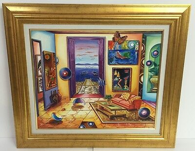 """""""UNTITLED ORIGINAL"""" by ASTAHOV. FRAMED, HAND SIGNED OIL ON CANVAS - 20x24 IMAGE!"""