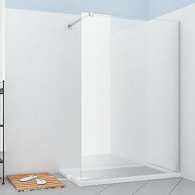 Walk in Shower Enclosure Wet Room Cubicle Screen Panel 8mm easy clean glass